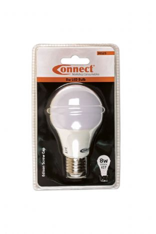 Connect 30525 8W LED Bulb 6500K E27 ES Fitting Cold White Pk of 1
